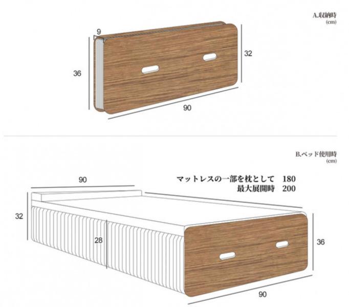 ペーパーベッド寸法
