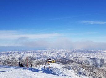 野沢温泉スキー場 山頂からの眺め