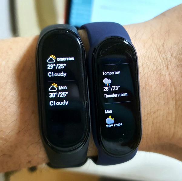 MiBand 5 天気