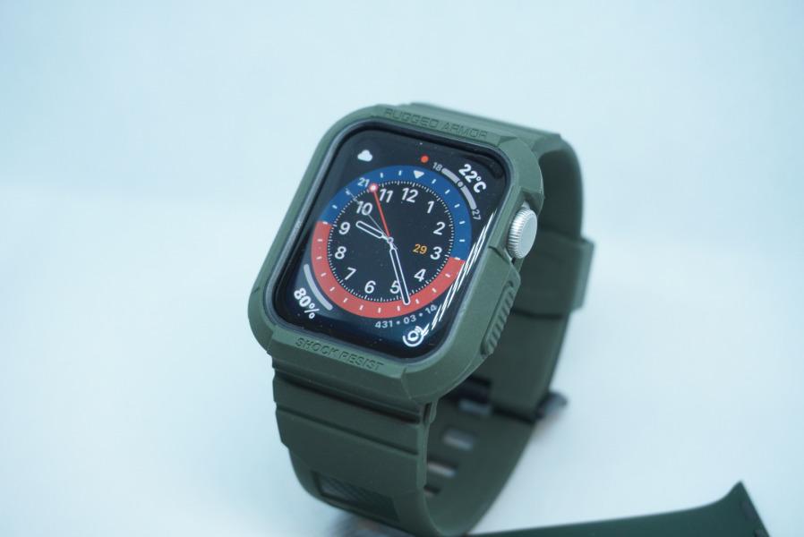 ラギッドアーマープロ Applewatch series6ベルト一体型ケース